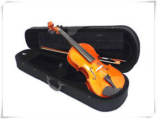 "New Solid Wood 15.5"" Viola+Bow+Rosin+Case+Extra Free String Set"