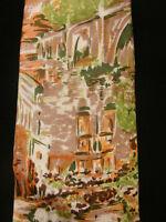 VINTAGE 1970'S-1980'S SILK ITALIAN YAPRE TIE WITH SCENERY