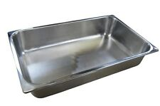 6 x Full Size 1/1 100mm Bain Marie Gastronorm GN Pan Tray Stainless Steel