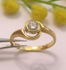 SOLITARIO IN ORO GIALLO18KT E DIAMANTE NATURALE -18KT SOLID GOLD DIAMOND RING