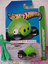Funda a 2012 i Hot Wheels #35 Angry Birds Compinche Cerdo ∞ Verde ∞ Oink !∞ 2013