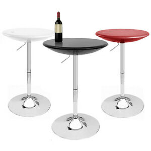 "MODERN ""BOMBO"" ADJUSTABLE BAR PUB BELLY TABLE -3 COLORS - 24"" DIAMETER ADJUSTING"