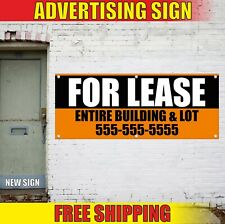 For Lease Banner Advertising Vinyl Sign Flag Entire Building Lot Custom Rent Now