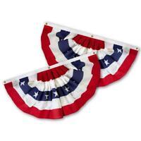 3x5 Ft USA AMERICAN BUNTING FLAG Americana PARADE BANNER bunting