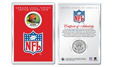 CLEVELAND BROWNS NFL Helmet JFK Half Dollar US Coin w/ NFL Display Case LICENSED