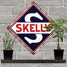 "Skelly Motor Oil Metal Sign Repro Gas Pump Garage Mechanic Shop 12x12"" 60777"