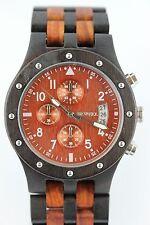 Bewell Holzuhr Herrenuhr Chronograph Datum Sandelholz Top Geschenk Armbanduhr