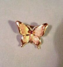 VINTAGE TRIFARI BUTTERFLY PIN/BROOCH -- 7/8 in. by 3/4 in, Signed