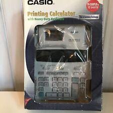 NEW Casio Printing Calculator FR-2650 PLUS-W 12 Digits w/Tax & Currency Exchange