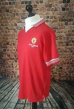 Vtg Replica Silver Jubilee 1977 Manchester United Football Shirt Medium Red
