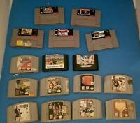 NINTENDO and SEGA Lot UNTESTED As Is 16x Games