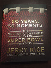 Jerry Rice Signed First Edition 50 Years 50 Moments Super Bowl Autograph Book