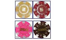 NUMBERED DICE POKER CHIPS 11.5g No 2 5 250 5000 150pcs
