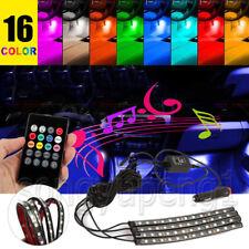 48 LED Car Interior Atmosphere Neon Lights Strip Wireless IR Remote Control 4PCS