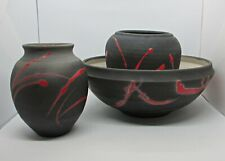 Bob Reiberg Ceramics - Large Bowl w/ Two Vessels