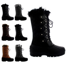 Ladies Muck Winter Rambling Waterproof Knee High Hiker Faux Fur Boots All Sizes