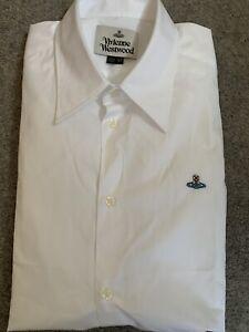 Vivienne Westwood men's white Long Sleeved shirt size Large 52 BRAND NEW BNWOT