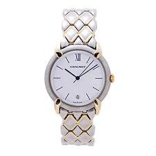 Chaumet OR-Acier 205476 Womens Quartz Watch White Dial Two Tone 18K YG 30mm