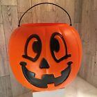 VTG Halloween Pumpkin Jack O Lantern Pail ORG General Foam Plastics Norfolk VA