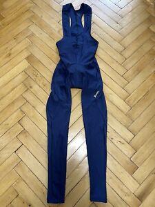 SMS Santini Men's Bib Tights Pants Fleece Navy Blue Size M