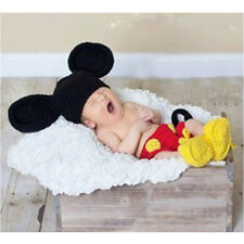 NEWBORN BABY (0-1m) CROCHET Mickey Mouse Set Photography Prop Outfit NEW