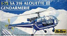 1:72 HELLER #80286 SA 316 ALOUETTE III GENDARMERIE