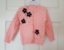 Beautiful girl's knitted warm cardigan, jumper, jacket size 1- 2 years old