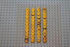 Lego Minifig Figur 40x Kopf Köpfe Gesicht head face konvolut XIX