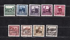 Autriche série des  villes  de 1923   num: 304/12  oblitéré