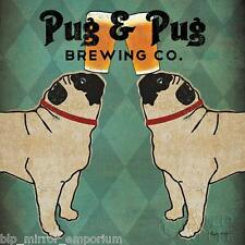 Pug and Pug Brewing Poster by Ryan Fowler Wall Art Print