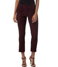 NWOT Michael Kors Red/Black Lace Jacquard Cropped Pants- Women's Size 2