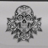 Skull vinyl decal sticker for Car//Truck Window tablet dead zombie gothic angry
