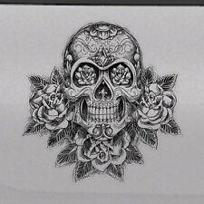 Sugar Skull Rose Graphic Tailgate Hood Window Decal Vehicle Truck Car SUV Vinyl