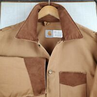 Rare VTG 1989 CARHARTT Size 54 2XL Mens Cotton Canvas Corduroy Chore Barn Coat