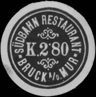 Reklamemarke Südbahn Restaurant - 440978
