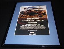 2001 Chevrolet Silverado Framed 11x14 ORIGINAL Vintage Advertisement