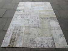 VECCHIO Fatto a Mano Tradizionale Persiano Orientale Tappeto Patchwork Lana Sbiadito 246x173cm