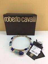 ROBERTO CAVALLI Snake Enamel Ruthenium-plated Swarovki Crystal Collar Necklace