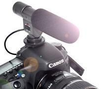 Aufsteck-Mikrofon für Nikon D7000 D5100 D3s D300s 3,5mm Klinkenstecker Stereo