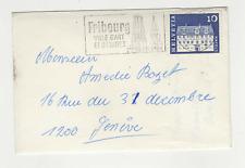 Suisse Helvetia 1 timbre sur lettre 1969 flamme Fribourg/ L478