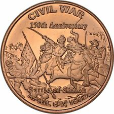 Civil War Series - Battle of Shiloh    1oz .999 copper round