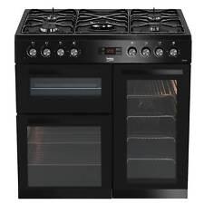 Beko KDVF90K 90cm Dual Fuel Range Cooker in Black 5 Hotplate Burners