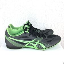 B53 Asics hyper MD Track Shoes Sneakers Spikes mens G502Y Green Charcoal Size 10