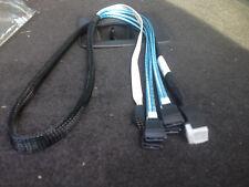 1 x Mini SAS HD Cable SFF-8643 to 4x SATA + Sideband 1m  -  LSI00411
