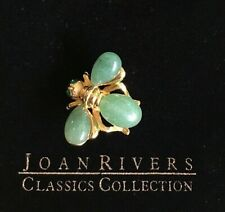 Bee Pin Brooch J443 Joan Rivers Sim. Jade