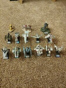 Star Wars Titanium Die-Cast Hasbro Vehicles with Stands Lot 2005-2009 14 Ships