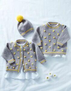 5289 DK Baby Cardigan & Hat Hayfield Sirdar Knitting Pattern