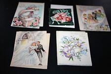 Vtg Greeting Card Lot Wedding 50s New Unused Foil Vintage w/ Envelopes  -BBBB