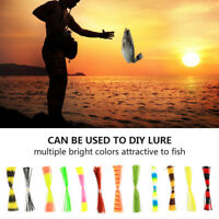 12 Bundles 50 Strands Silicone Skirts Fishing Rubber Jig Lure Mixed Color