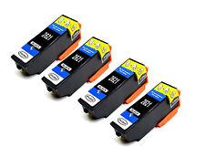 4 Black Ink Cartridges for Epson Expression XP-510 XP-605 XP-620 XP-710 XP-810